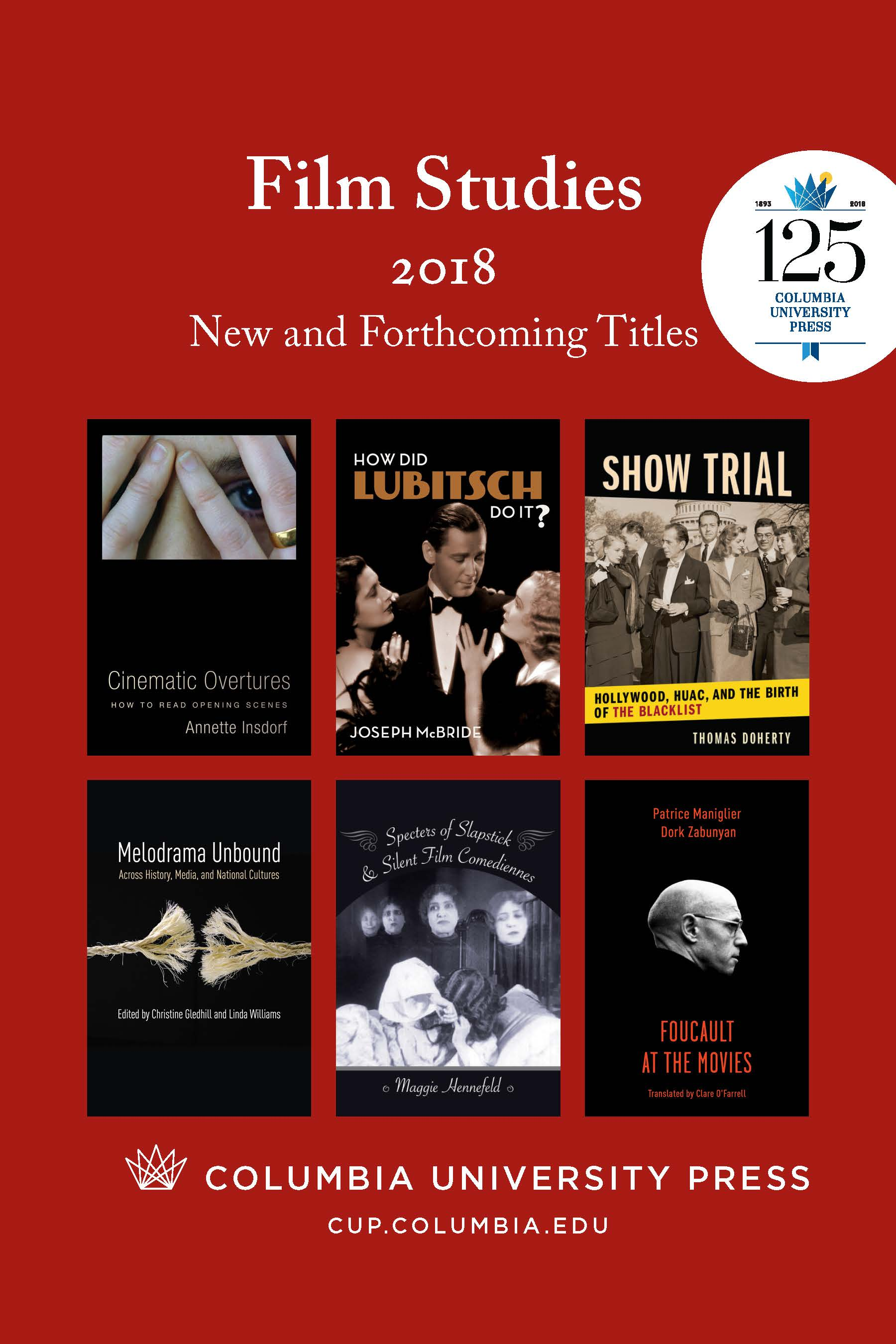 2018 Film Studies Catalog