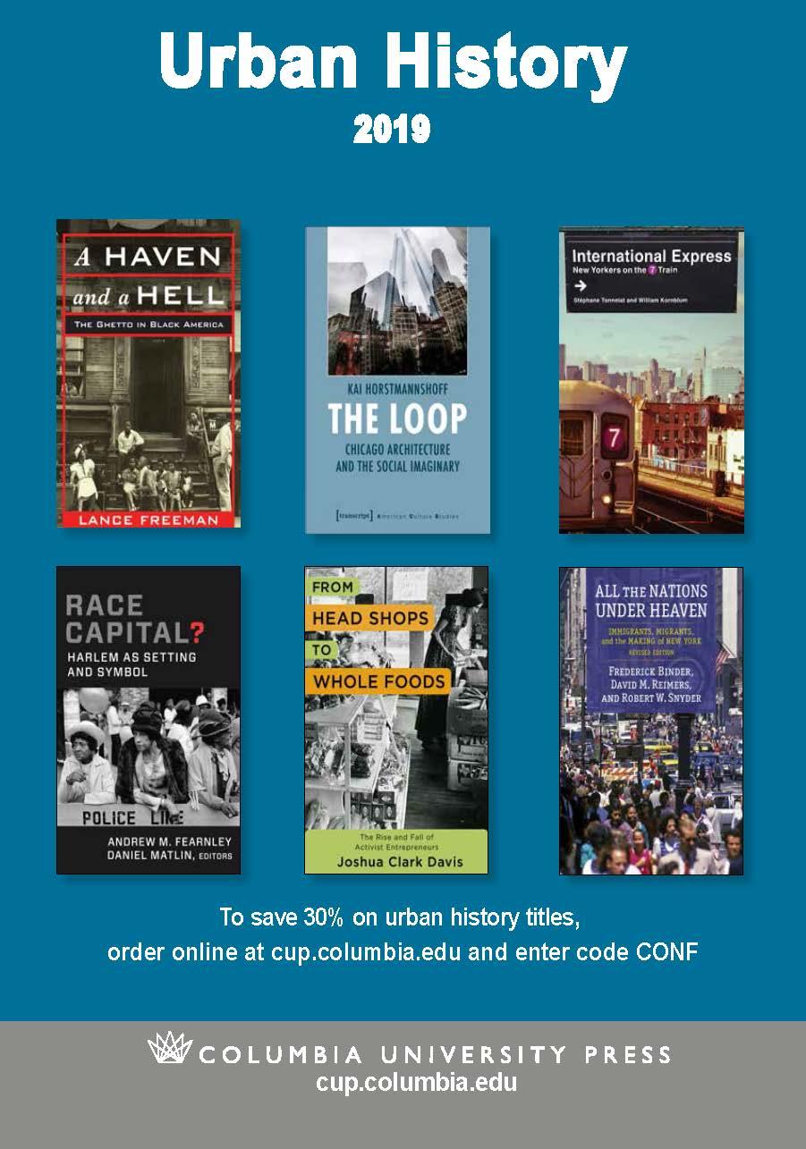 2019 Urban History Brochure