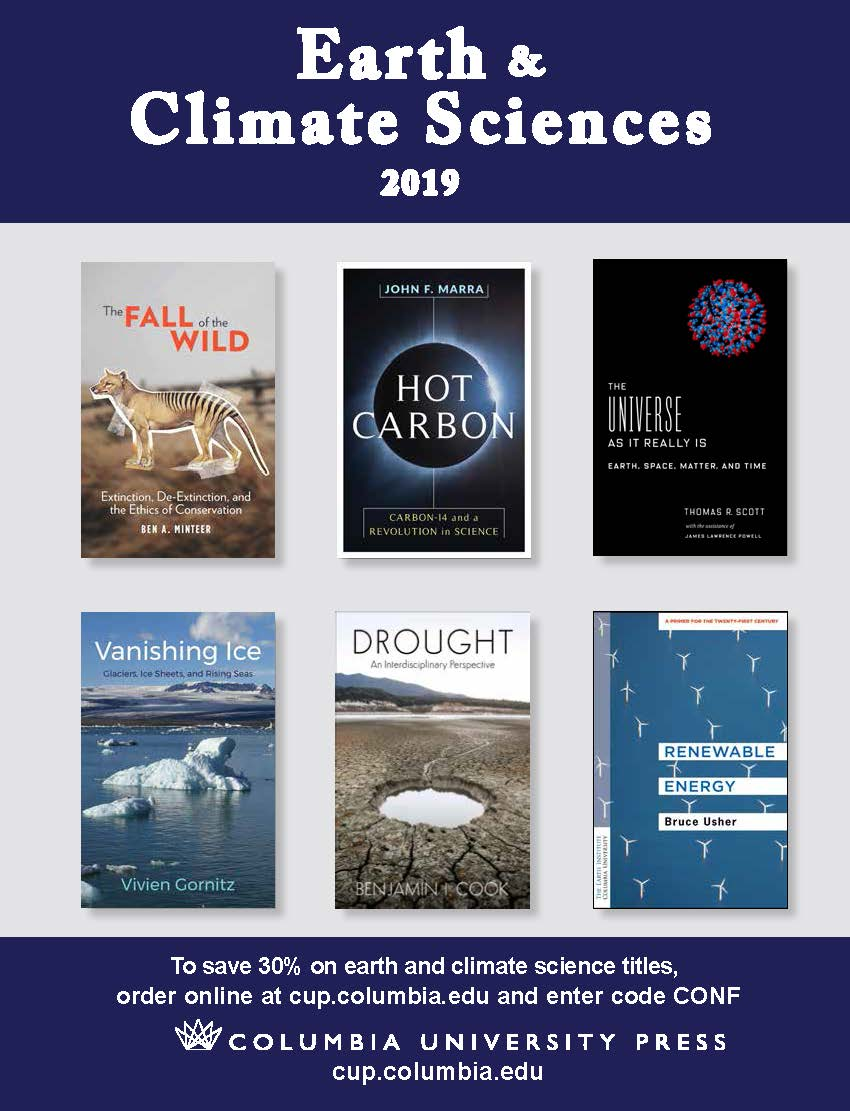 2019 Earth and Climate Sciences Catalog