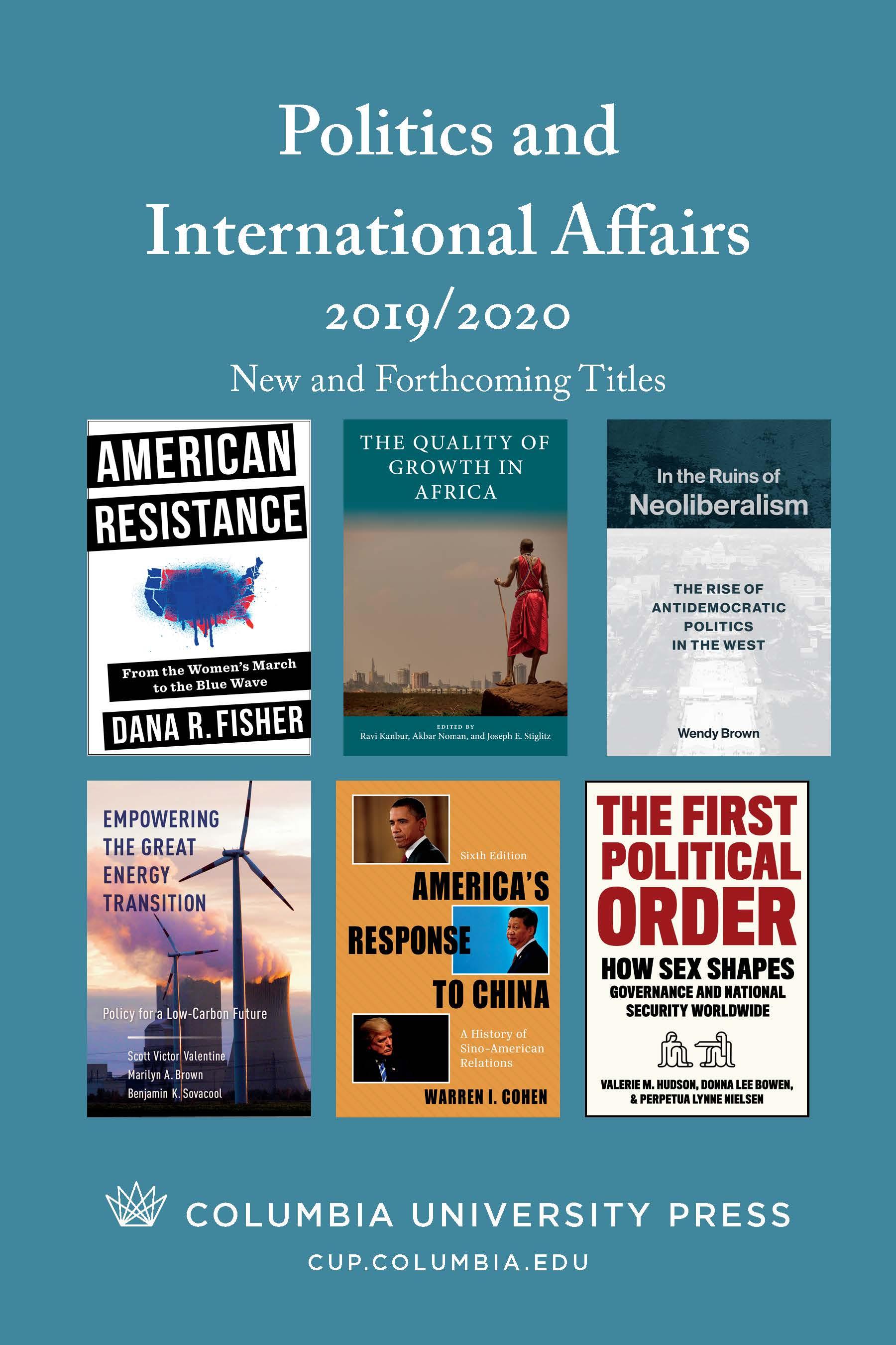 2019 Politics and International Affairs Catalog