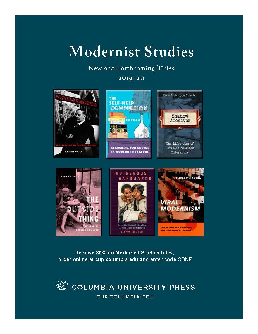 2019-2020 Modernist Studies Catalog